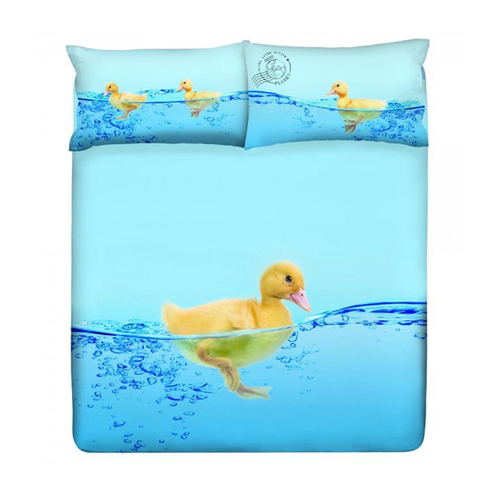 Gabel Copripiumino 1 Piazza E Mezza.Set Copripiumino Piazza E Mezza Gabel Duck Duck Azzurro Cotone Ebay
