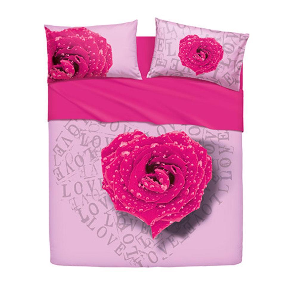 Copripiumino Matrimoniale Bassetti Outlet.Set Copripiumino Letto Matrimoniale Bassetti Love Is Rose Fuxia