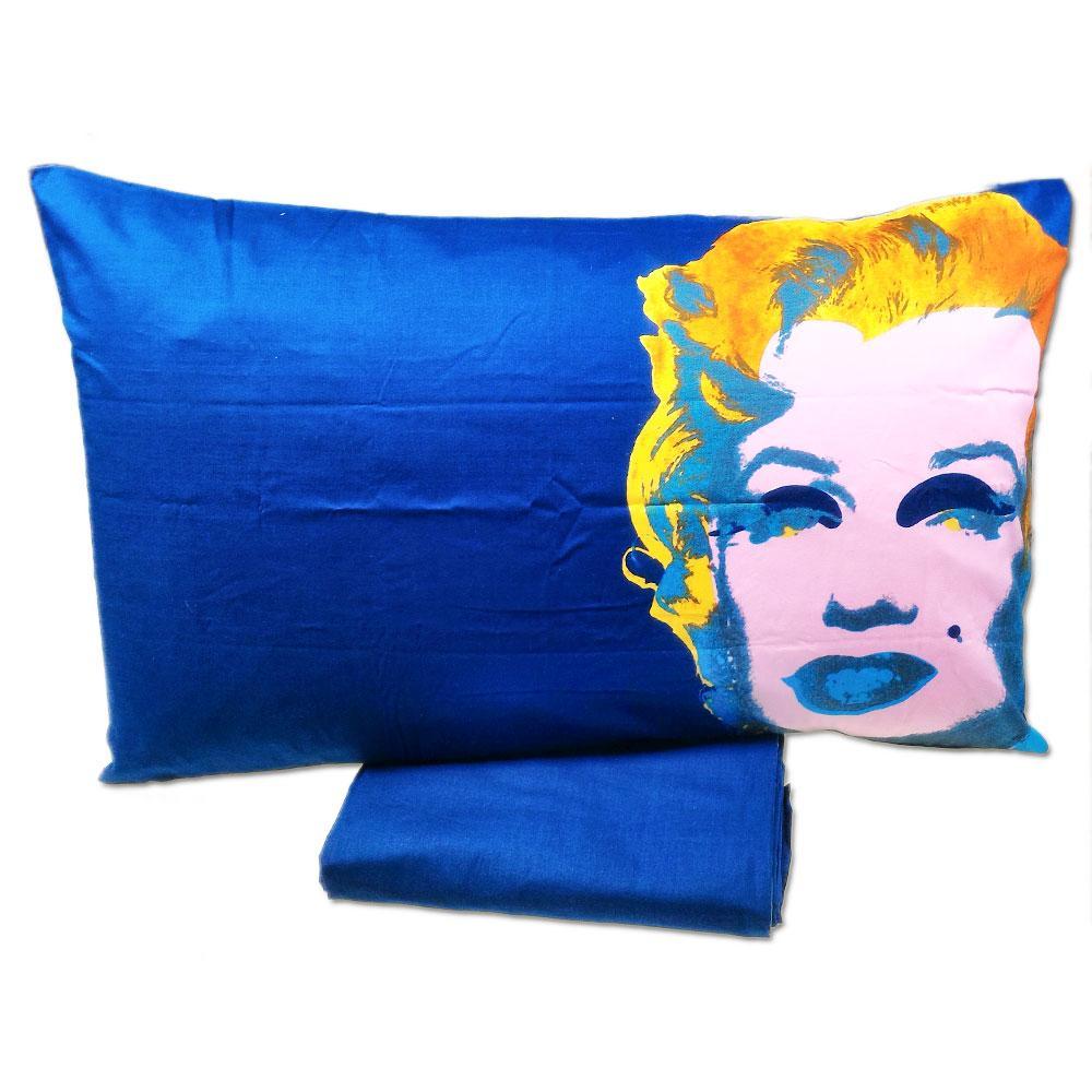 Lenzuola Matrimoniali Marilyn Monroe.Set Lenzuola Piazza E Mezza Bassetti Marylin Monroe Di Andy Wharol