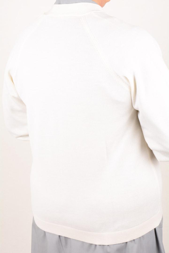 Golf Suora Scollo V in Pura Lana art. 8242 Bianco
