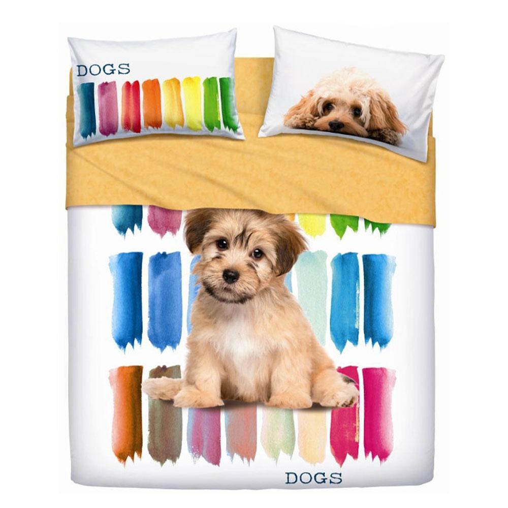 Set lenzuola letto singolo 1 piazza BASSETTI COLOR DOGS
