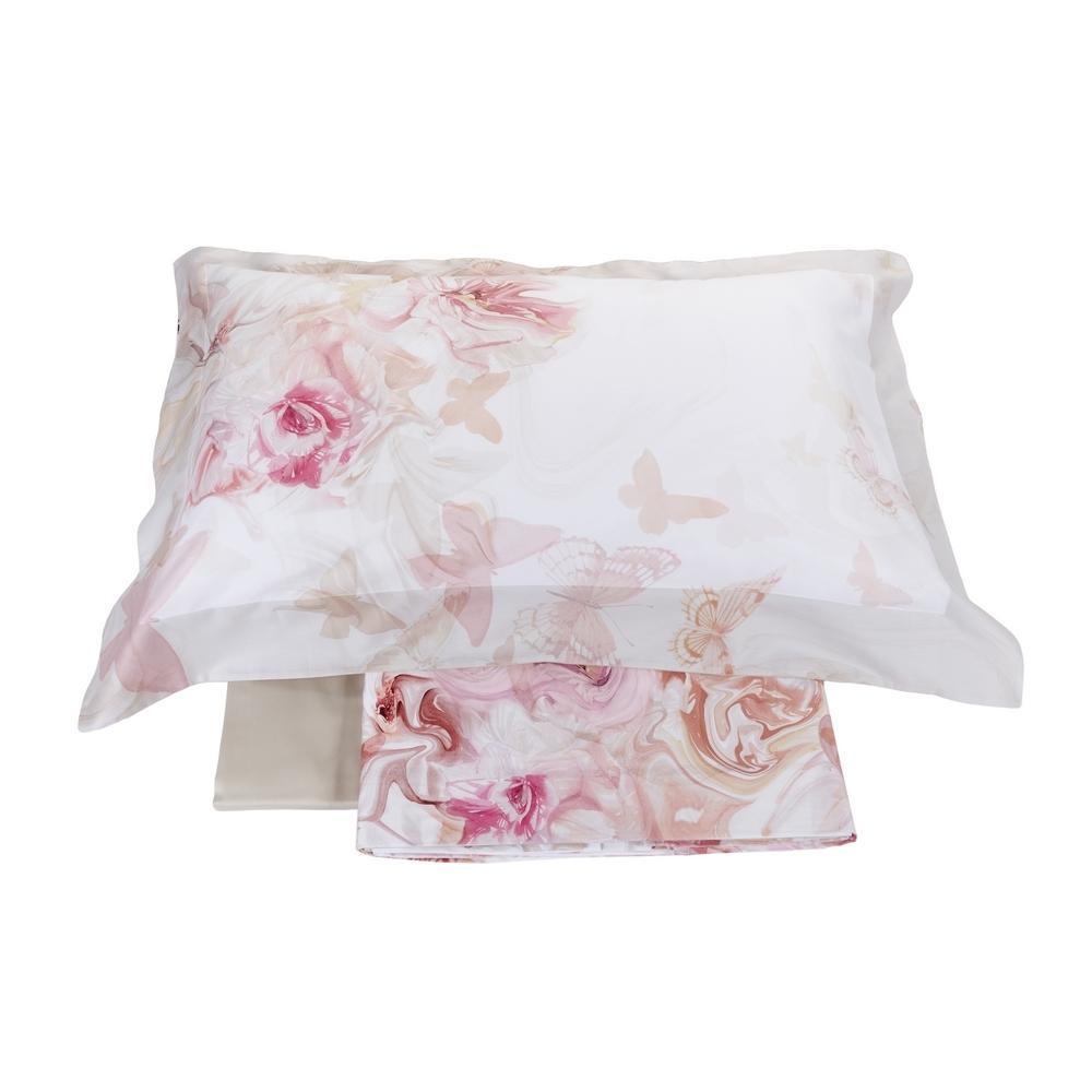 Lenzuola Matrimoniali Rosa.La Perla Set Lenzuola Matrimoniale Adorable Raso Di Puro Cotone