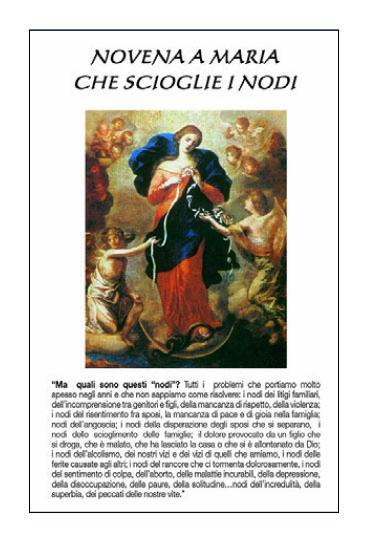 Novena a Maria che scioglie i nodi (100 pz)