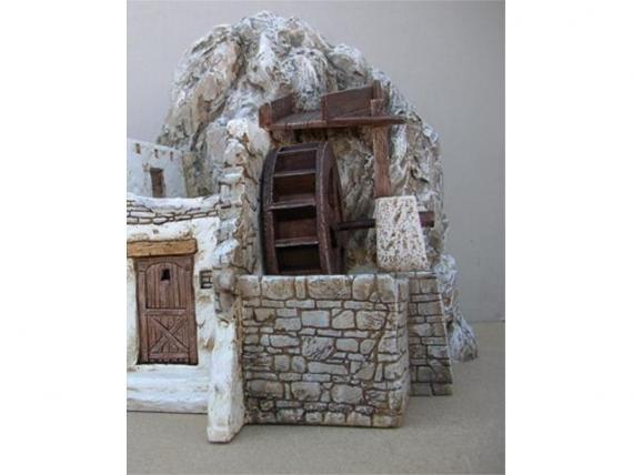 Casa con mulino ad acqua