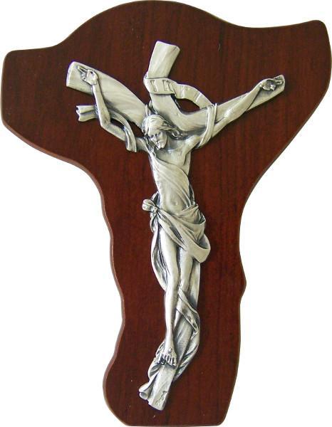 Crocefisso legno corpo metallo
