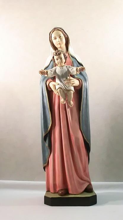 Madonna con bambino in resina cm. 80
