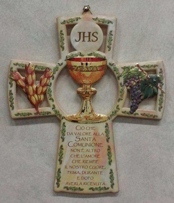 FINE SERIE 7 pezzi - Croce comunione con simboli