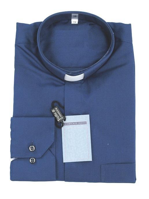 Camicia clergy cotone/poliestere - manica lunga