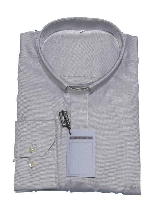 Camicia clergy piquet - manica lunga