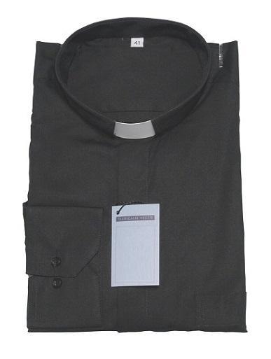 Camicia clergy popeline - manica lunga