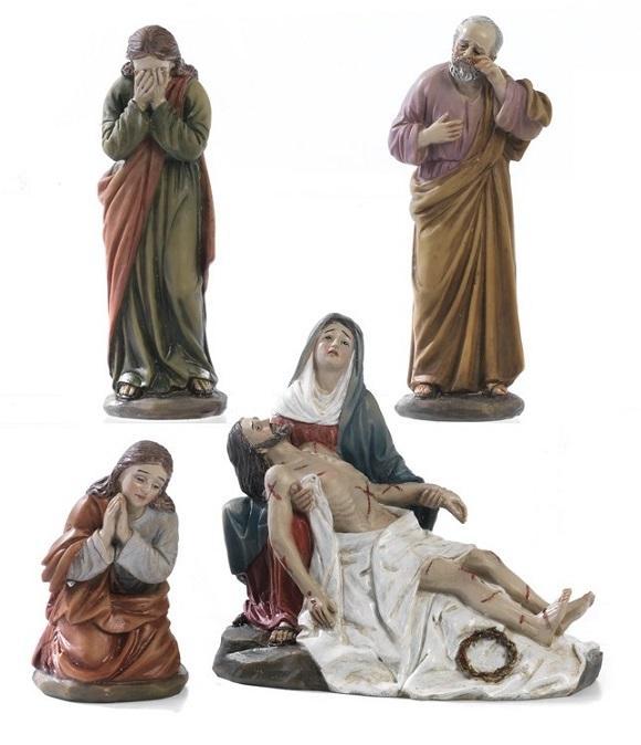 Addolorata con Gesù morto cm. 13 (4 pz)