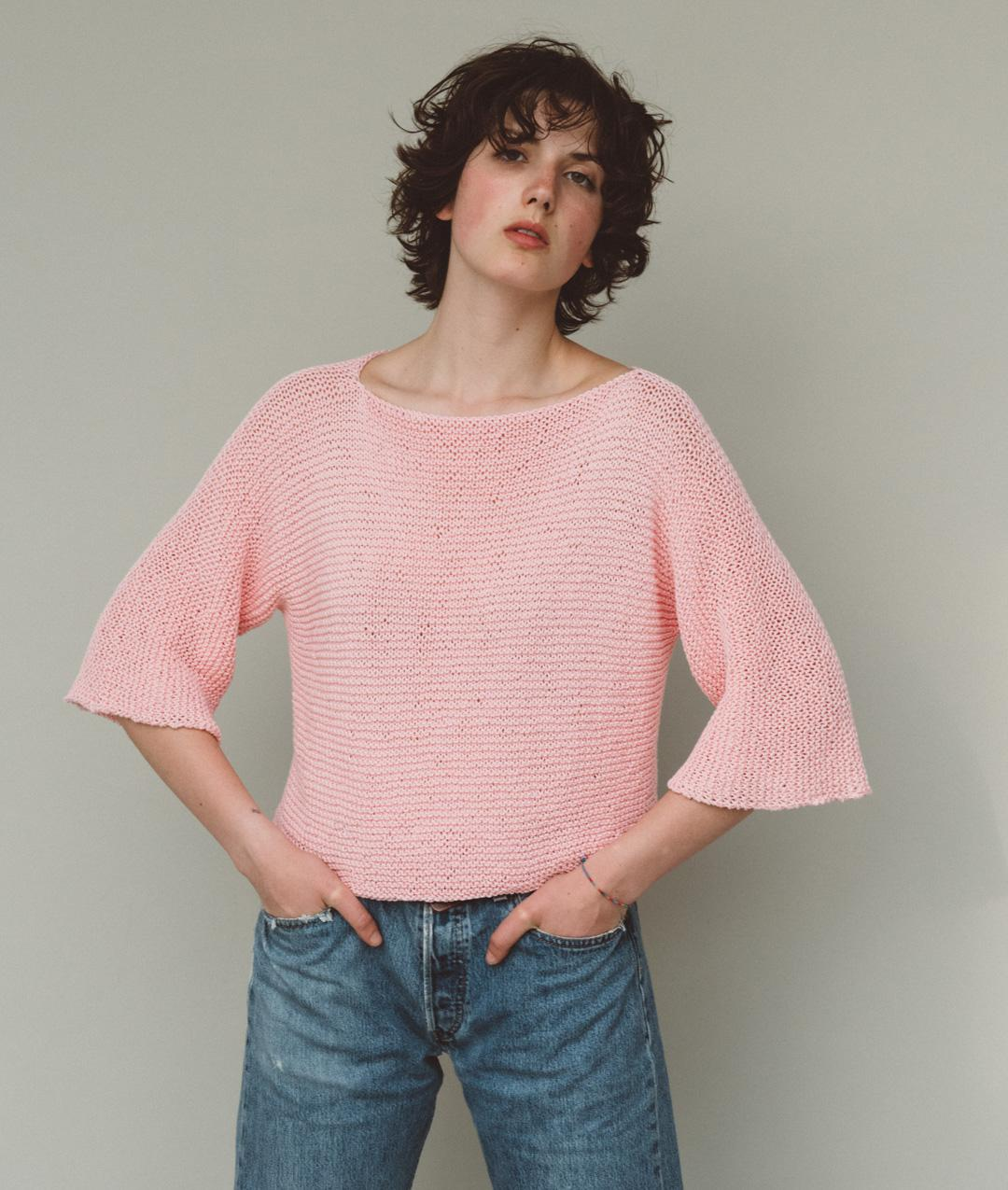 Sweaters and Tops - Cotton - Tulip T-Shirt - 1