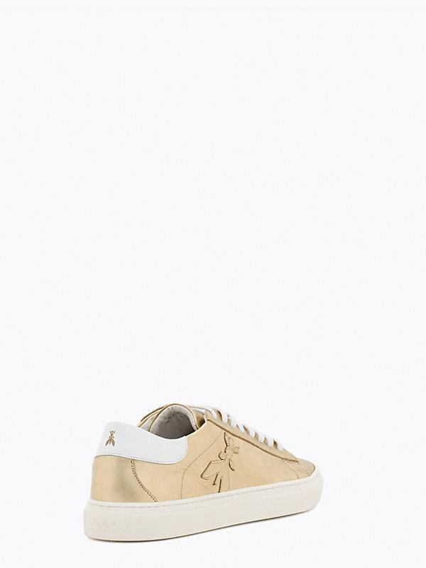 Sneakers Donna in pelle laminata ORO Patrizia Pepe