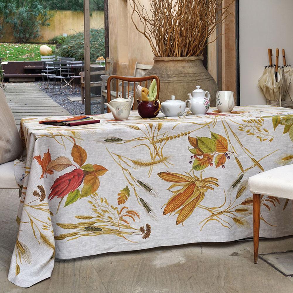 Tovaglia rettangolare 160x230 cm Tessitura Toscana MUESLI puro lino