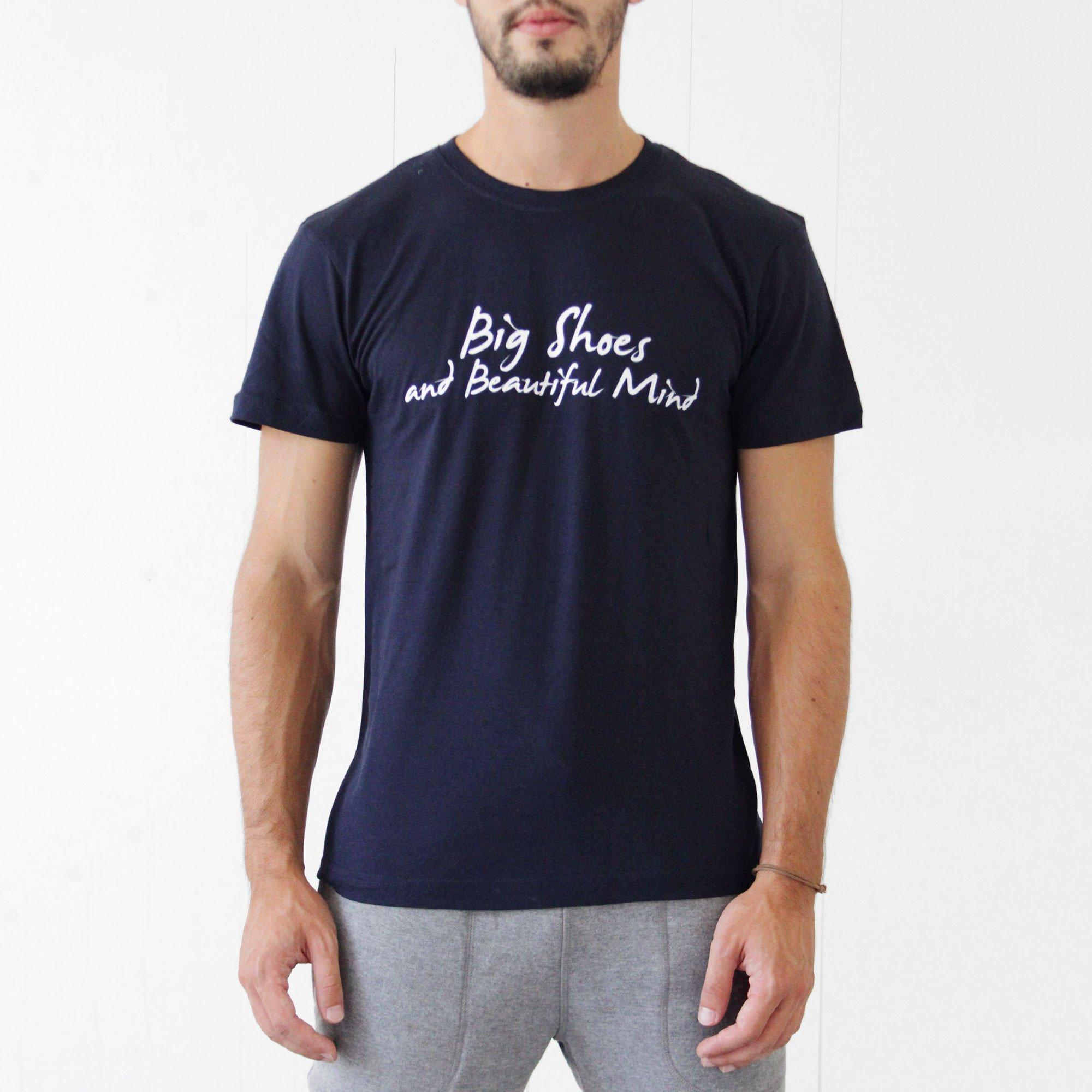 T-Shirt blu basic - Big Shoes and beautiful mind