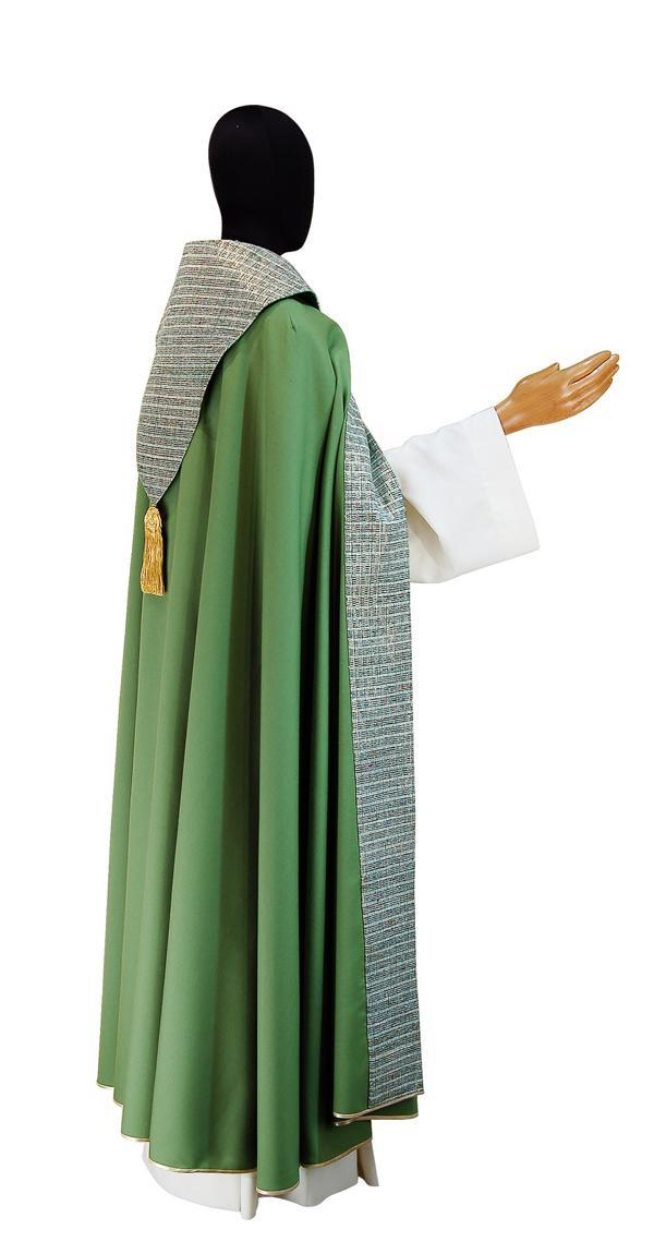 Piviale PM8 774 Verde - Pura lana