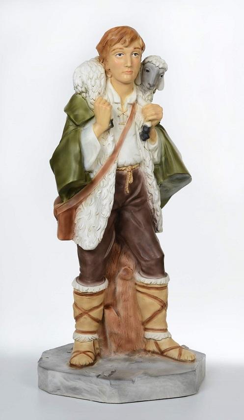 Pastore con pecora - presepio cm. 65