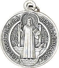 Medaglia metallo S. Benedetto Ø cm. 1,8