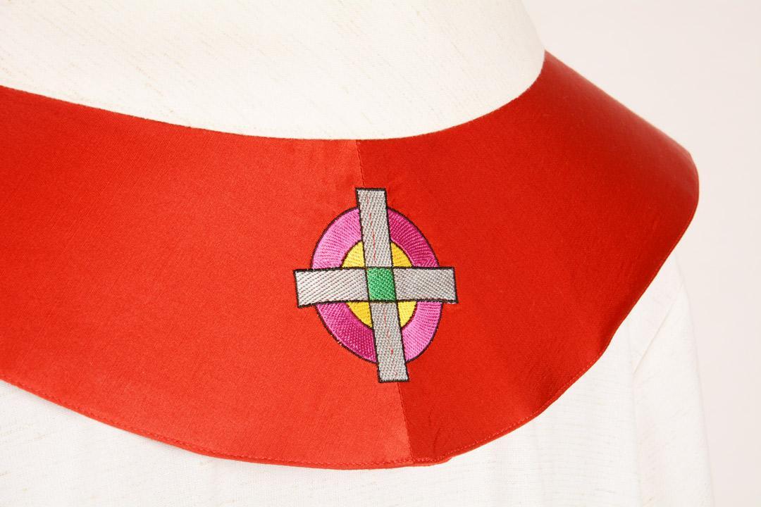 Stola S46 M1 Rossa - Faille Misto Lana