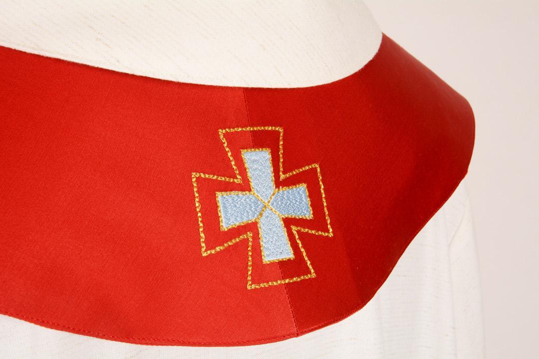 Stola S3 M1 Rossa - Faille Misto Lana