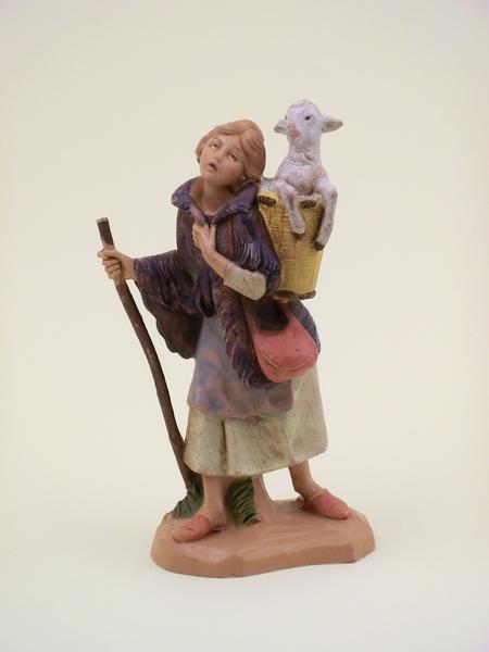 Donna con pecora cm. 12