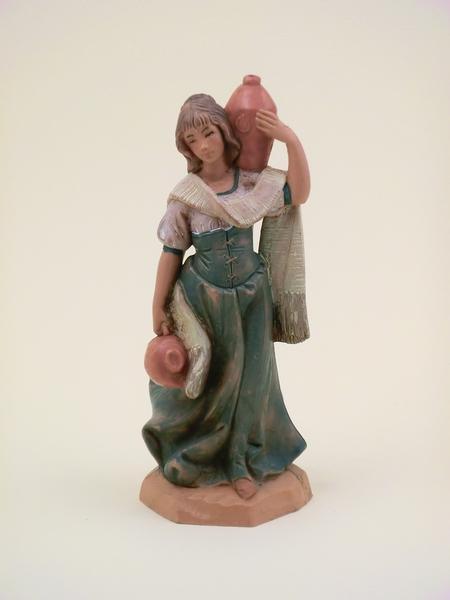 Donna con anfore cm. 12