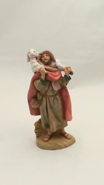 Pastore con con agnello cm. 12