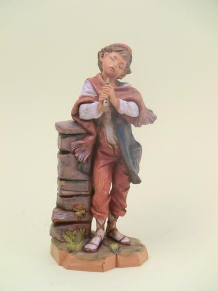 Pastore con flauto cm. 19