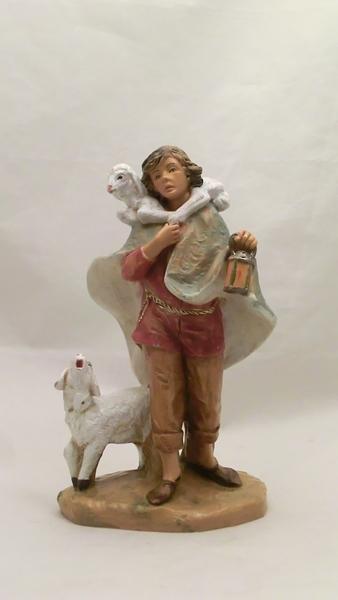 Pastore con pecore cm. 19