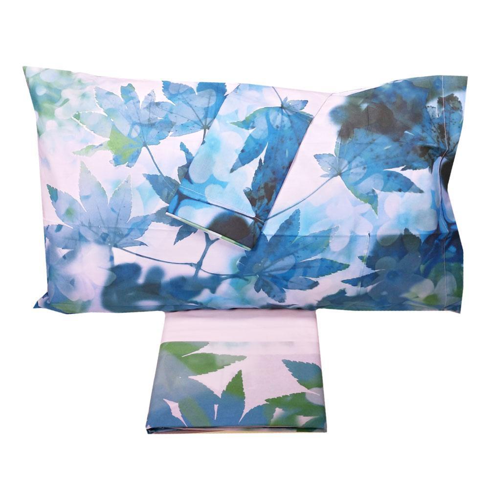 Set lenzuola matrimoniali 2 piazze BASSETTI Life Soft Layers v.3 azzurro