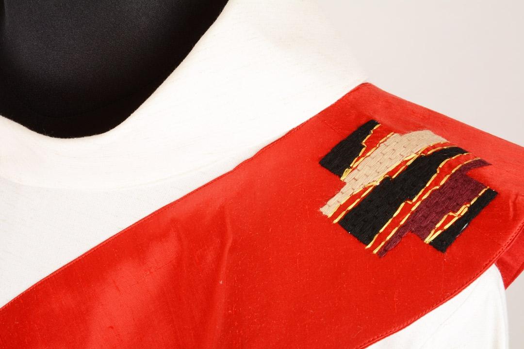 Stola Diaconale SD45 M0 Rossa - Pura Seta