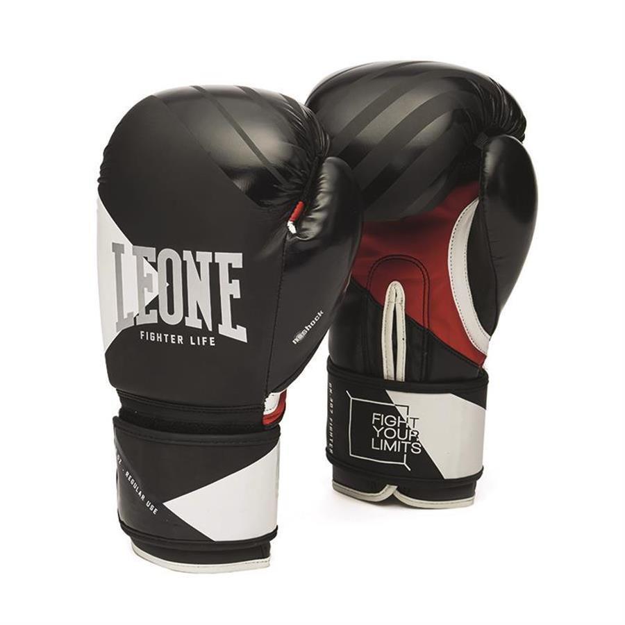 LEONE GUANTI BOXE FIGHTER LIFE NERO 10OZ