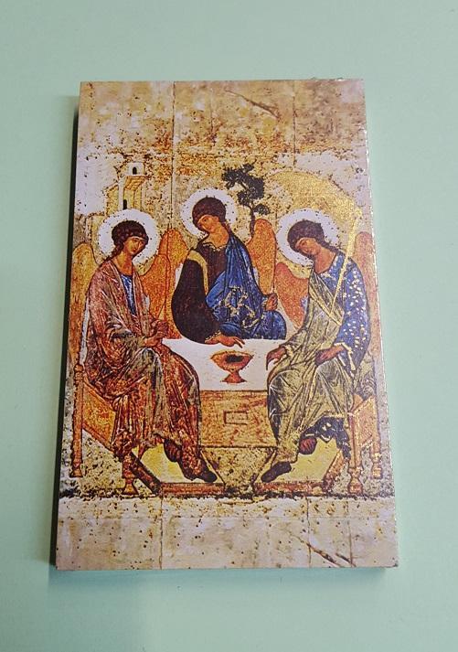 Quadretto legno Trinità