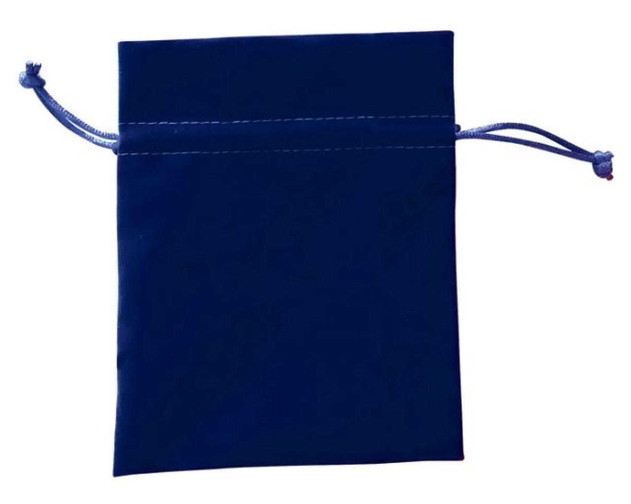 Busta velluto blu cm.14,5x11,5x0,2h