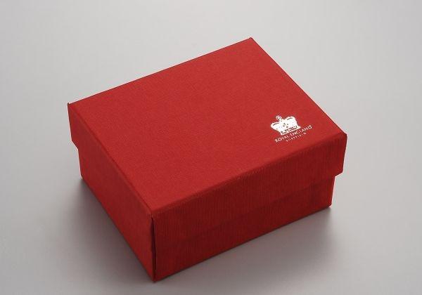 Scatola rossa cm.7,5x7,5x9h