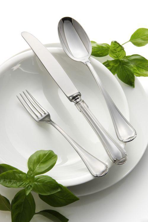 Cucchiaio tavola stile Regina Anna epns argentato argento