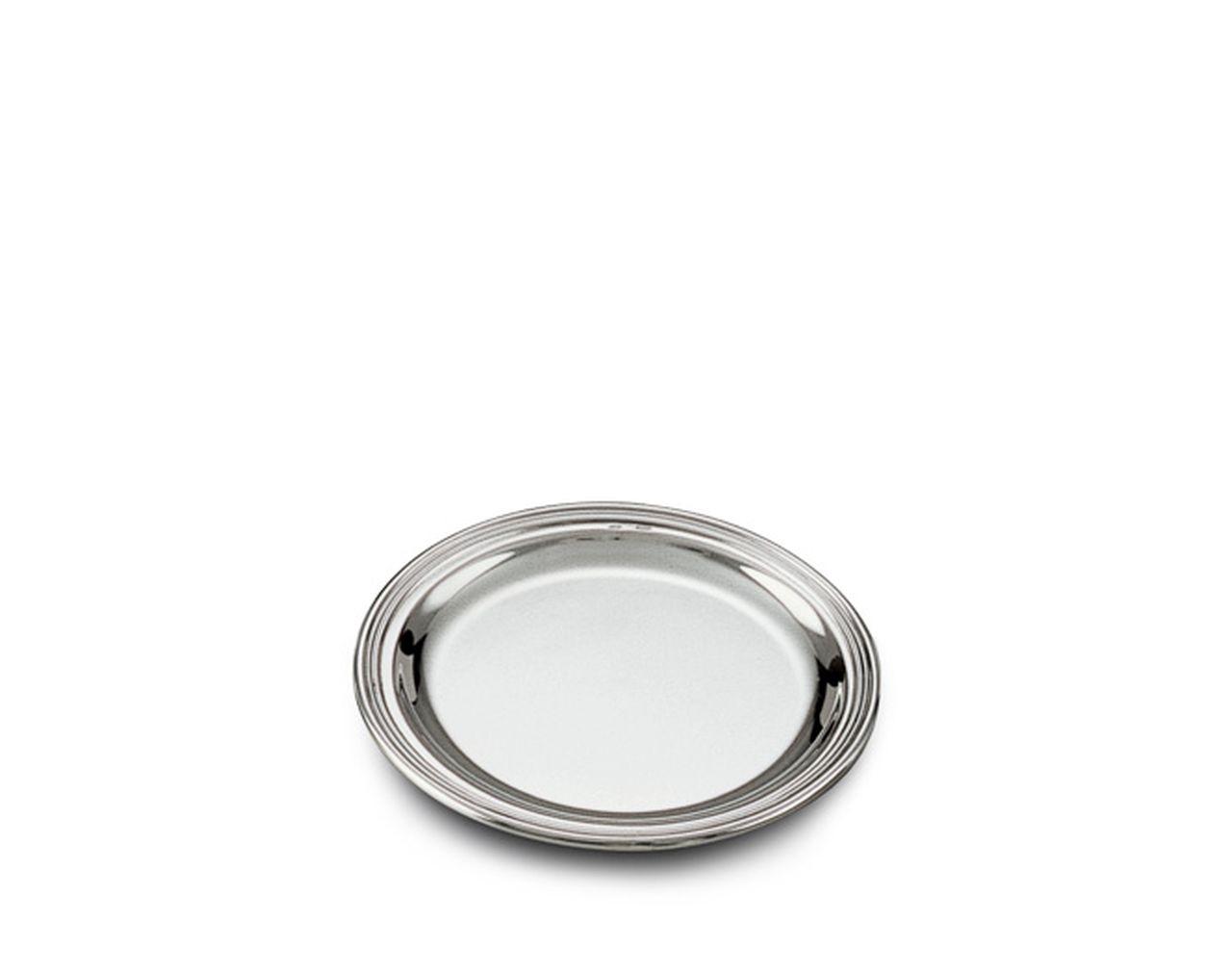 Sottopane in argento massiccio stile Inglese bordo godronato