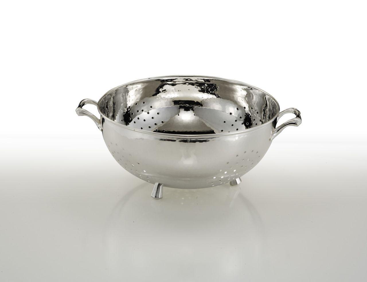 Scolapasta argentato argento sheffield argento stile Cardinale