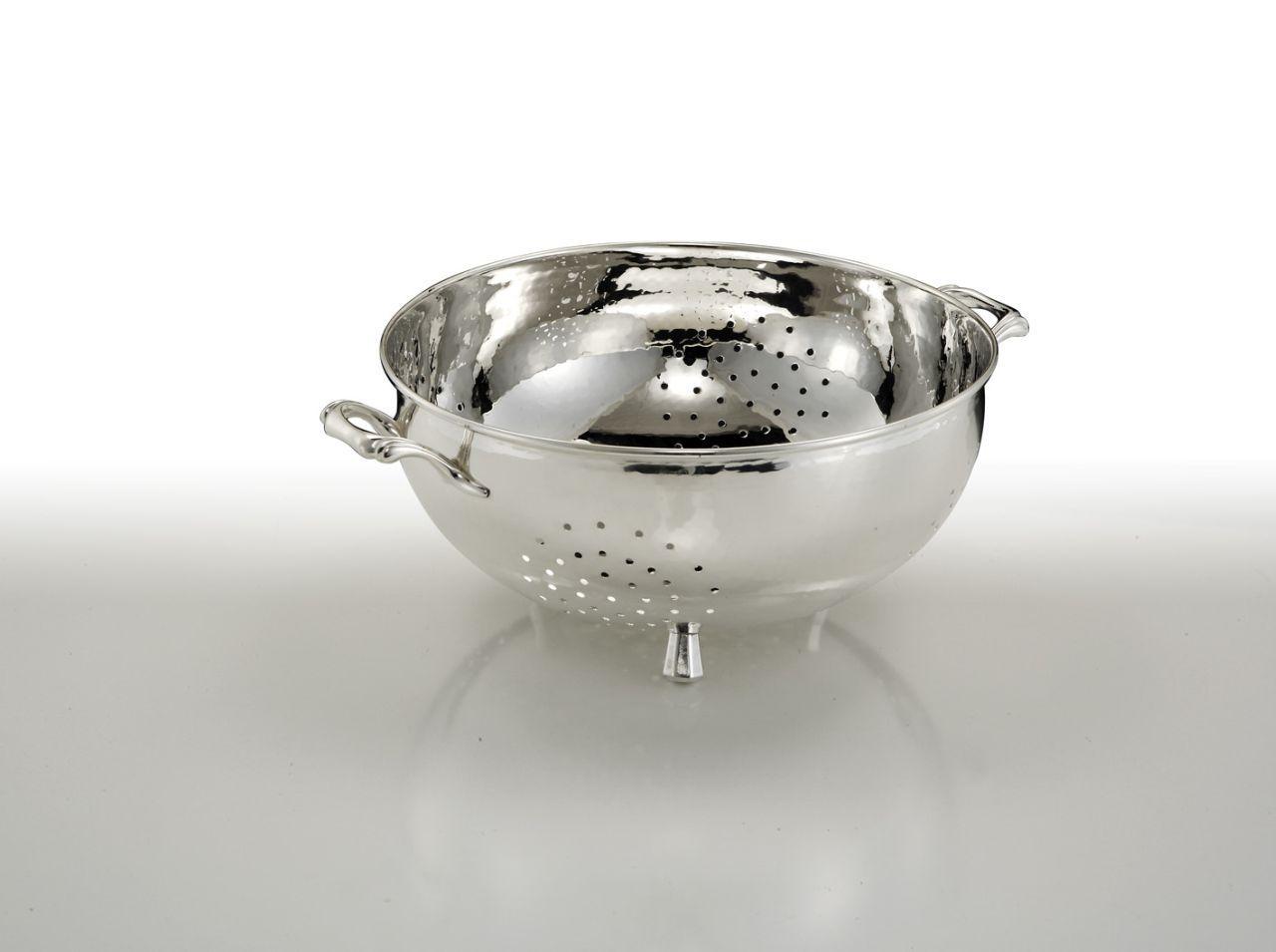 Scolapasta argentata argento stile Cardinale cm.12,5h diam.25