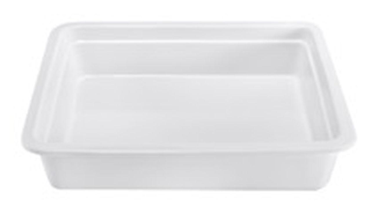 Pirofila gastronomia in porcellana bianca cm.35,4x33x6,5h