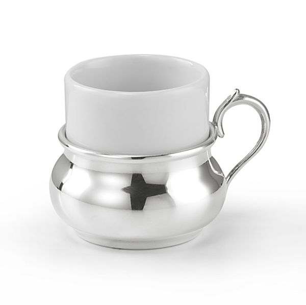 Tazzina con ceramica stile Inglese argentato argento sheffield
