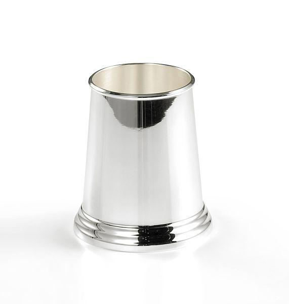 Portapenne stile inglese argentato argento sheffield cm.11,5h diam.10