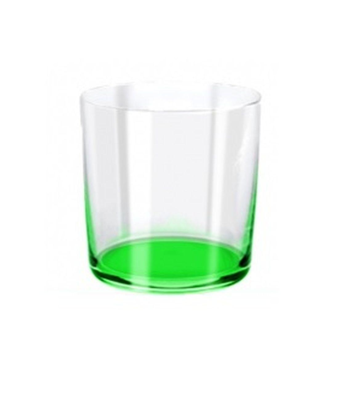 Bicchiere acqua burano verde ml390 stile burano