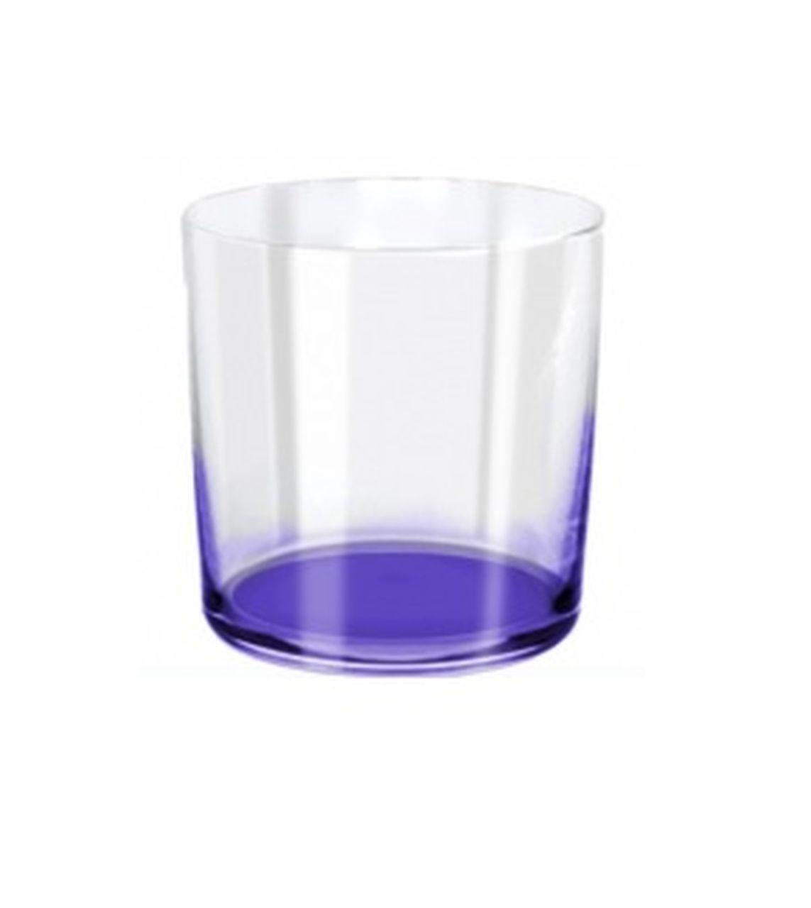 Bicchieri acqua in vetro cristallino ml 390 stile burano cm.9,1h diam.8,6