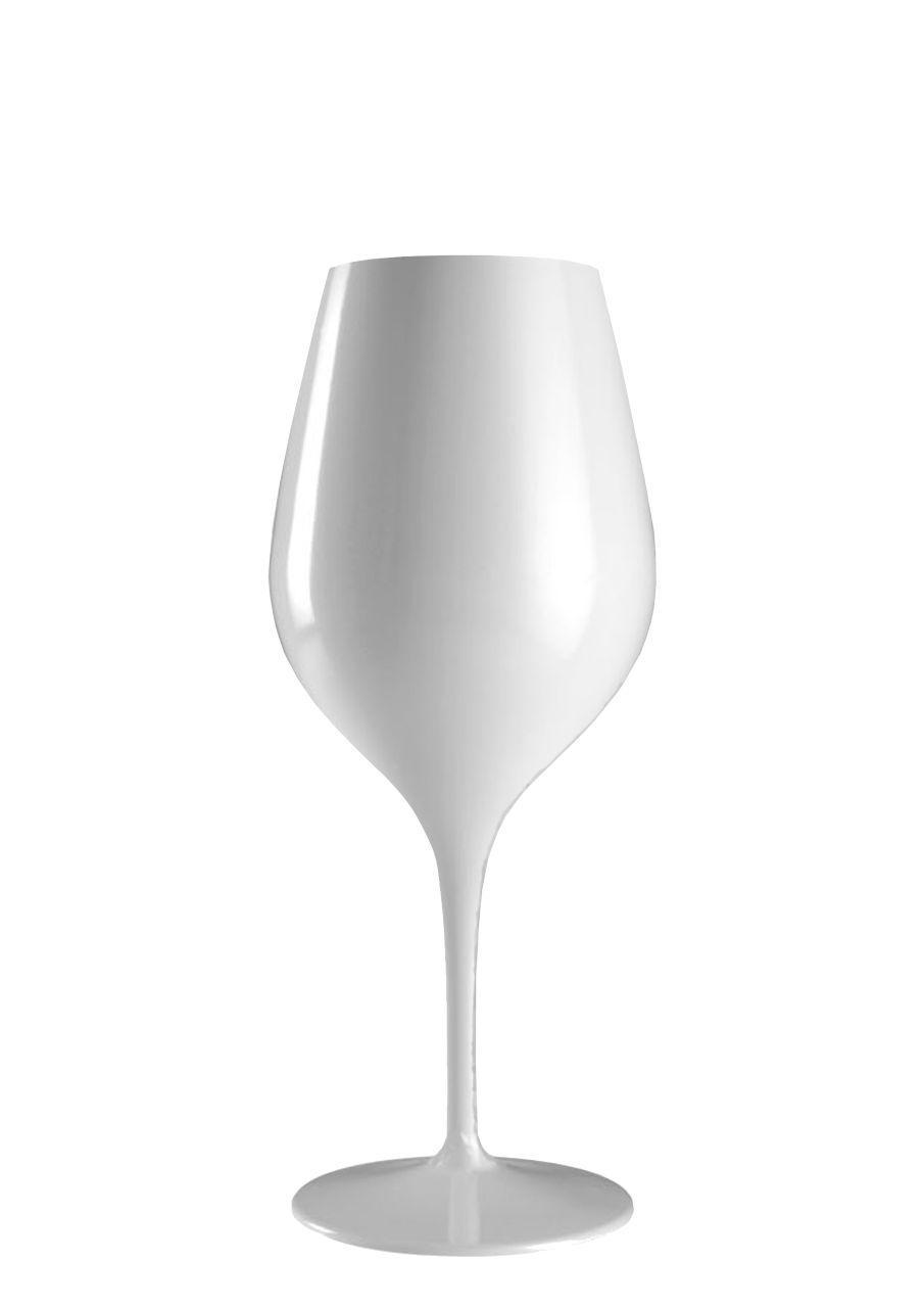 Calice vetro vino rosso colore bianco ml 480 stile white moon