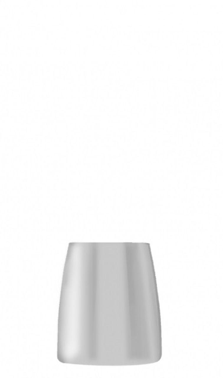 Bicchiere vetro tumbler 325 ml colore bianco stile white moon cm.9,2h diam.7,6