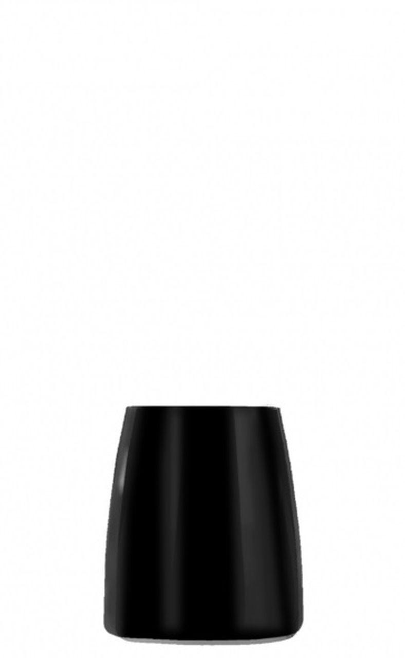 Bicchiere acqua tumbler nero ml 225 stile black moon cm.9,2h diam.7,6