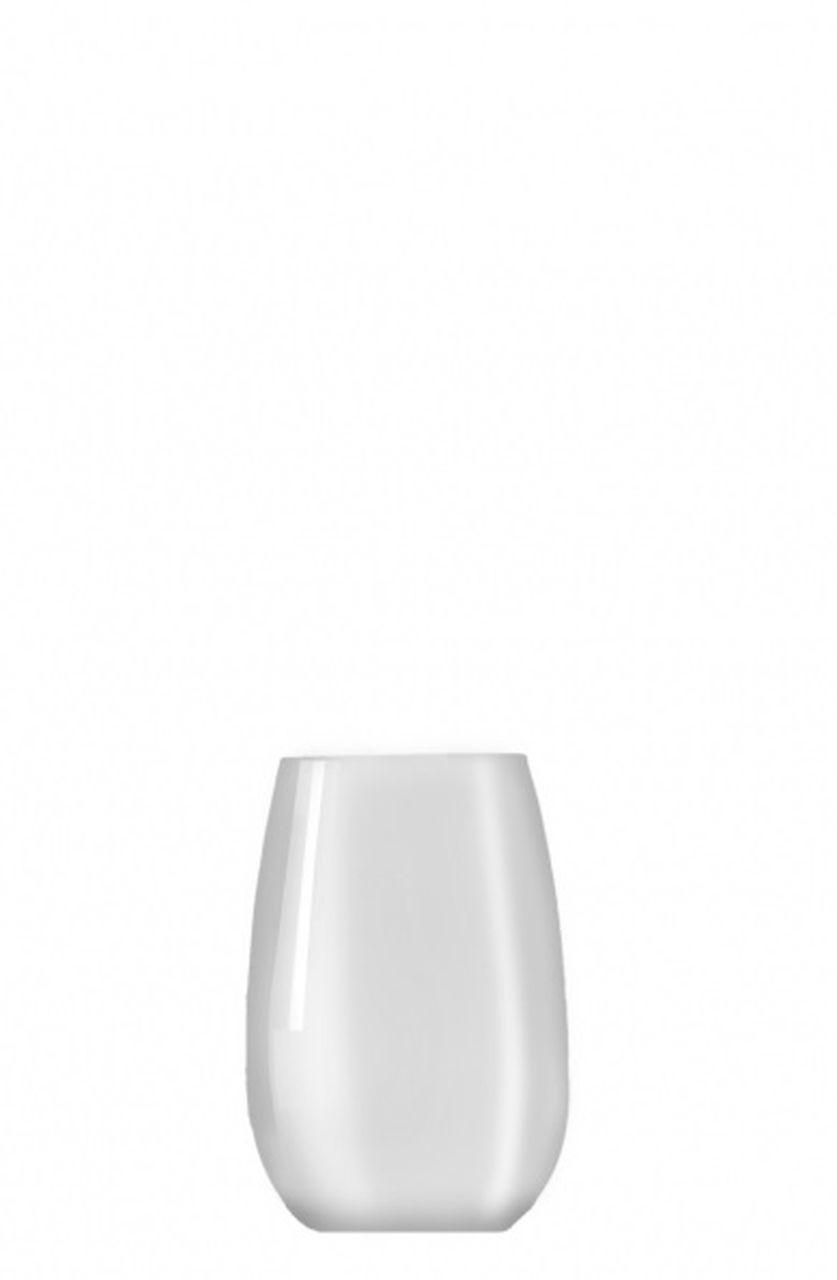 Bicchiere vetro tumbler acqua bianco ml 335 stile white moon