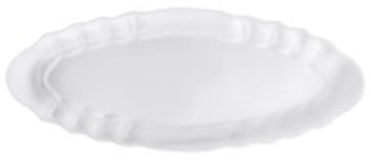 Piatto ovale in porcellana per pesce stile Barocco cm.70x28,5x5h