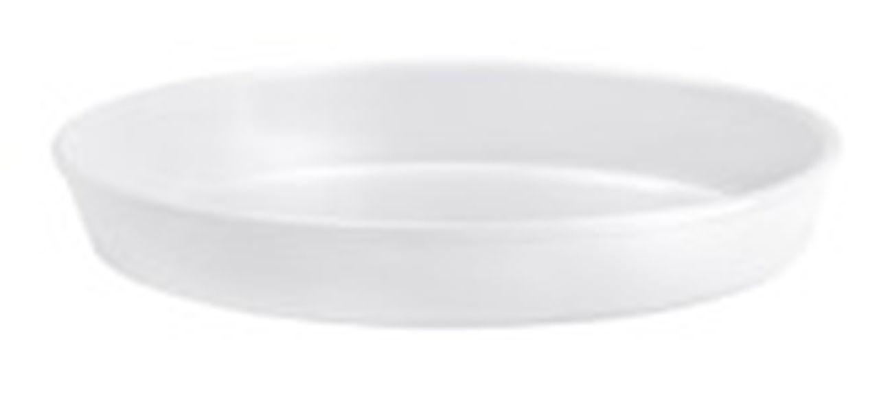 Pirofila risottiera ovale in porcellana liscia cm.42x25,5x6h